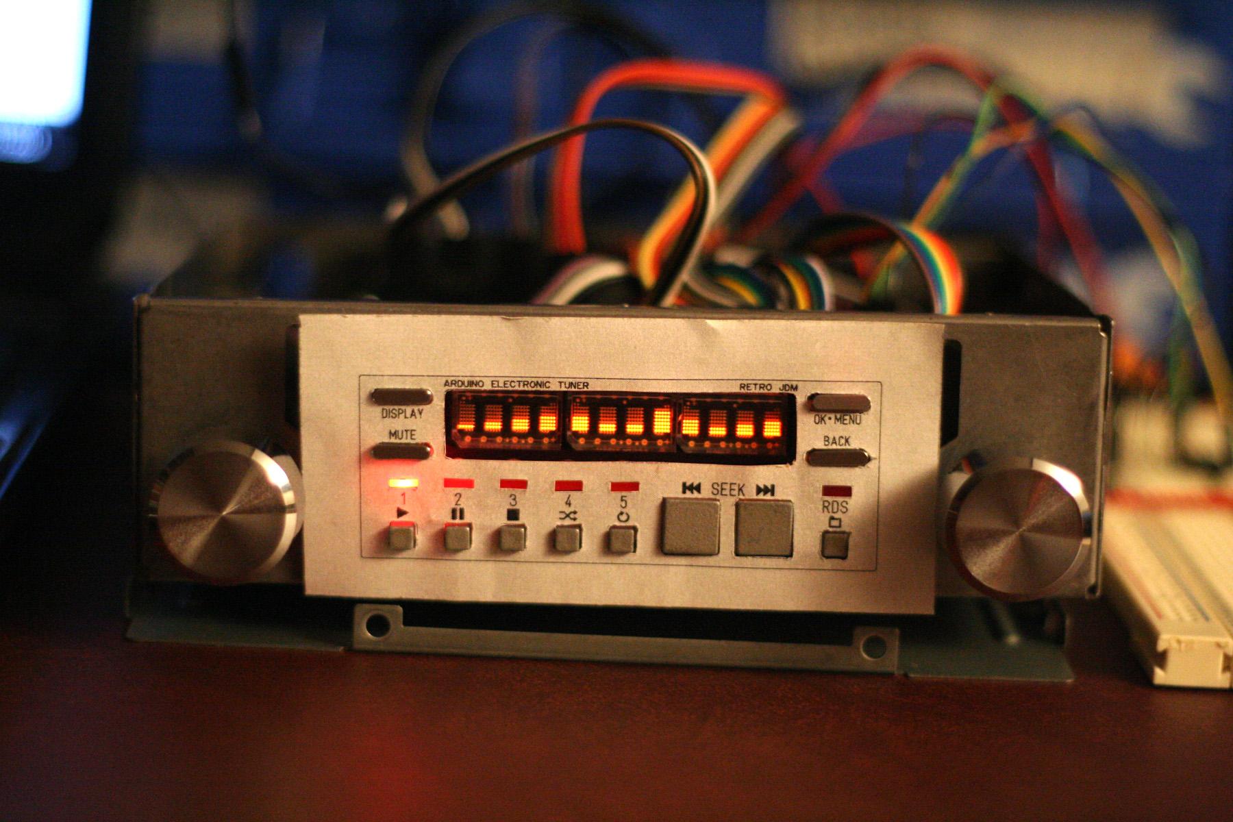Arduino Car Stereo - Retro JDM