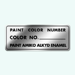 Paint Color Number