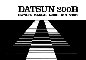 Datsun 810 (200B) - Owners Manuals - 1977 (AU)