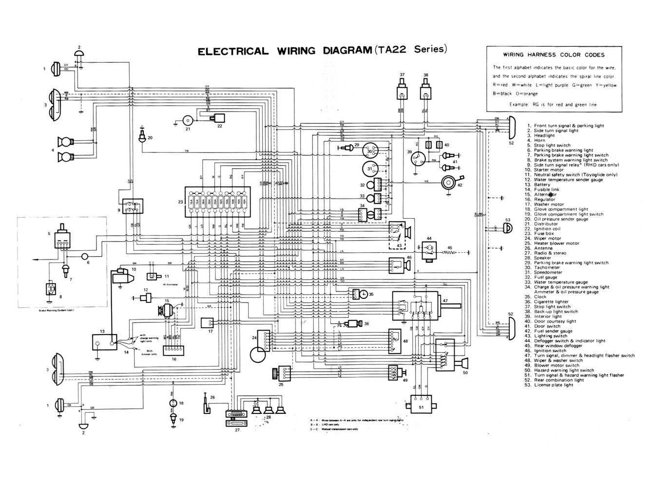 09 24 Electrical Wiring Diagram (TA22 Series) toyota celica service manual chassis 1971 page 09 24 (100dpi toyota celica wiring diagram at bayanpartner.co