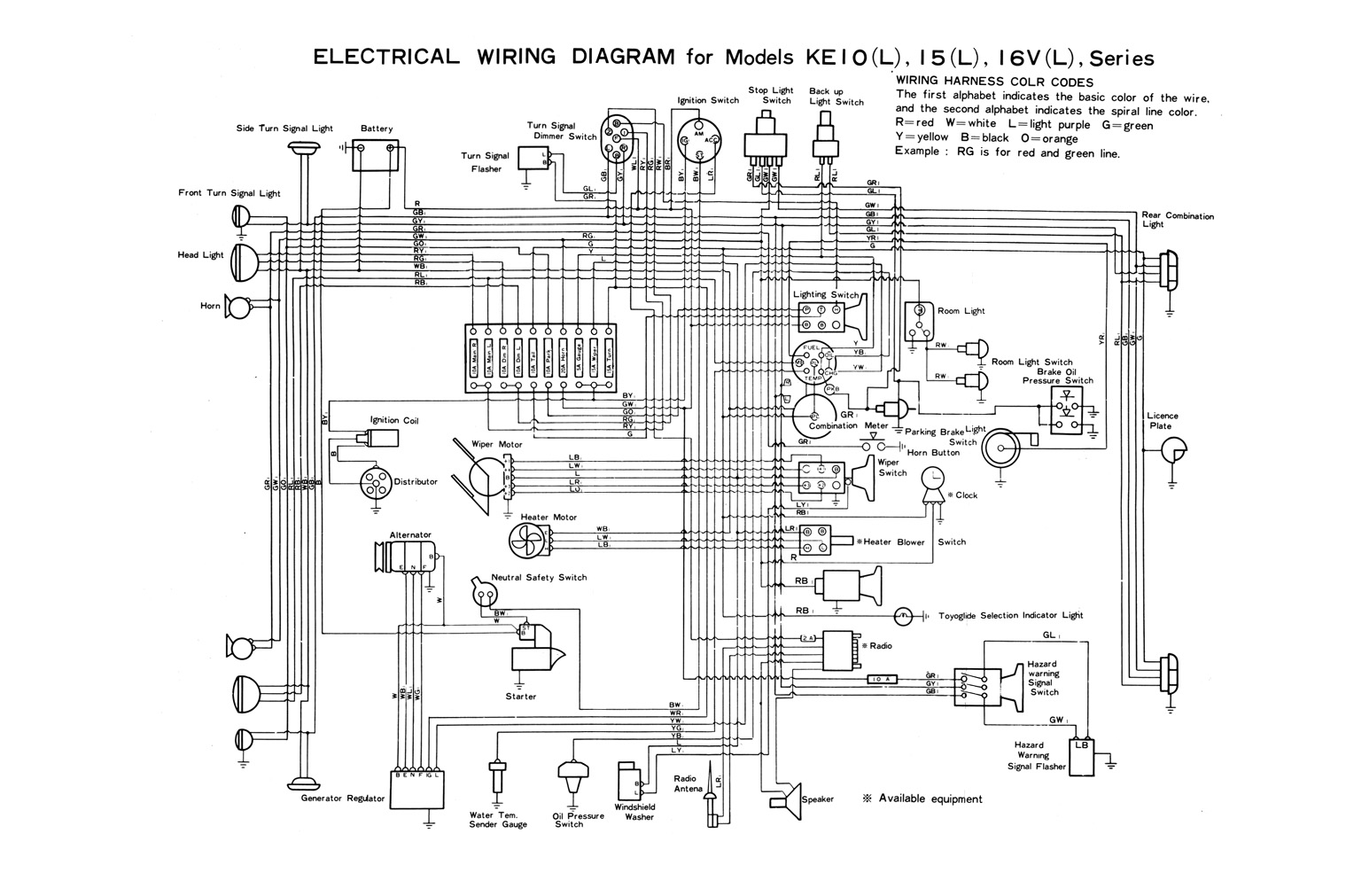 Wiring Diagram Kelistrikan Body Toyota : Toyota corolla service manual body page s