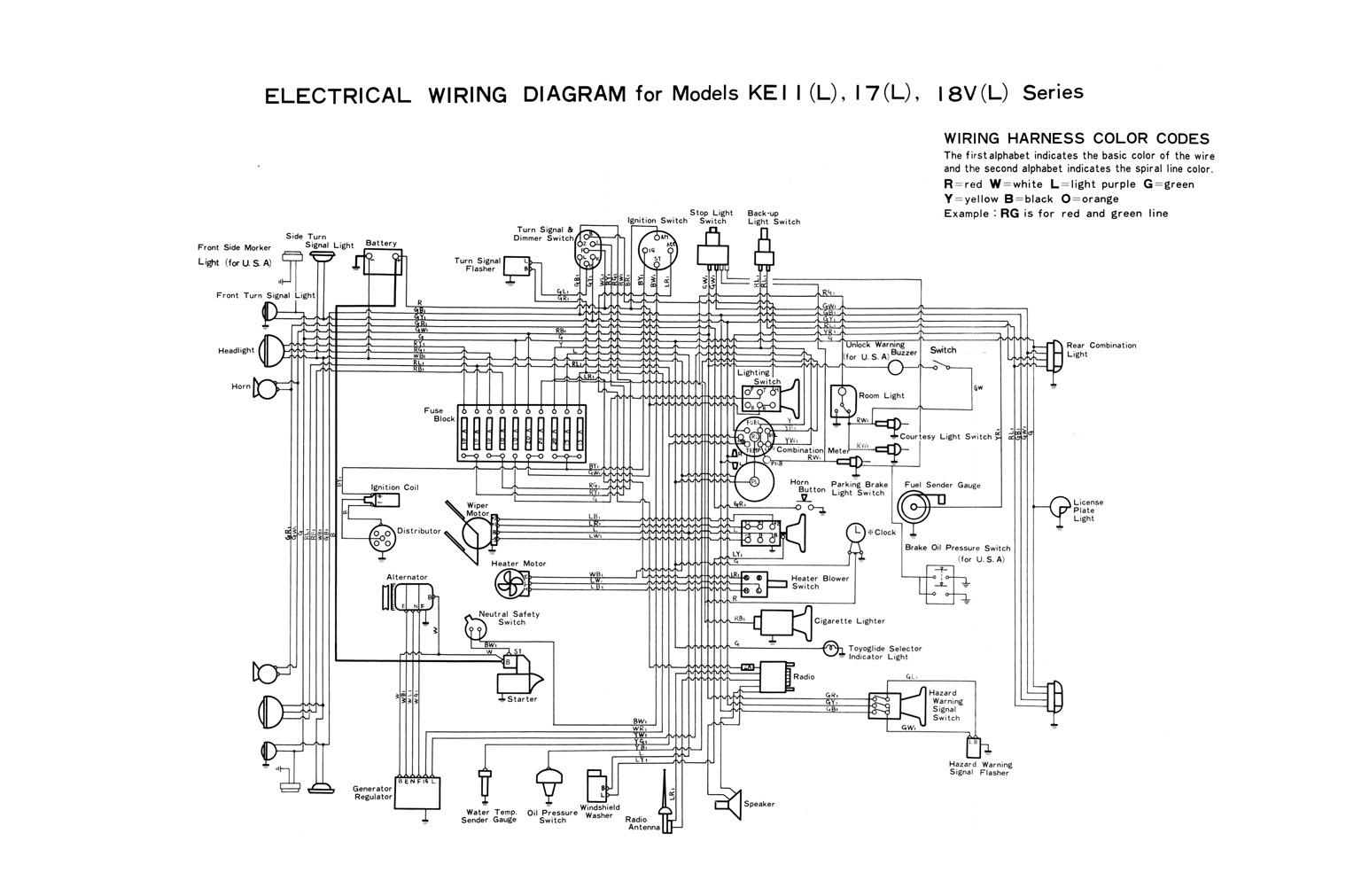 toyota instrument cluster wiring diagram instrument